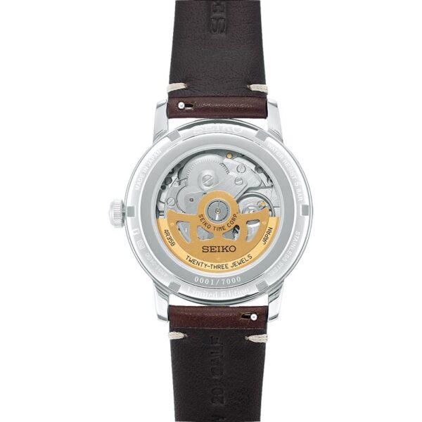 orologio elegante uomo marrone seiko meccanico edizione limitata