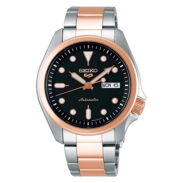 orologio bicolore acciaio e oro rosa da uomo automatico elegante