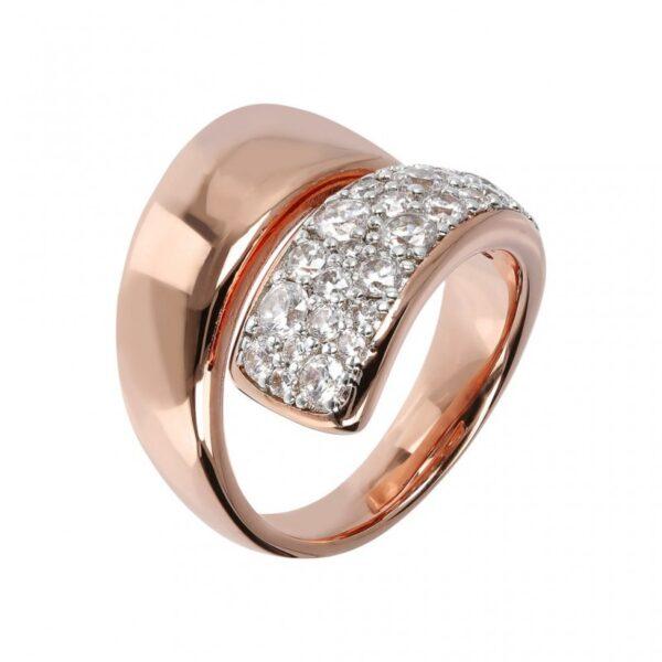 anello bronzallure oro rosa contrariè WSBZ01429 W