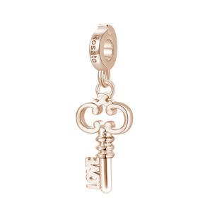 charm chiave love rosato argento oro rosa