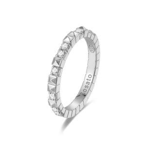 anello rosato cubica argento zirconi