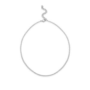 collana rosato cubica argento zirconi barretta smile