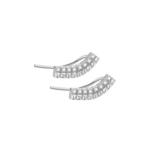 orecchini rosato cubica argento zirconi