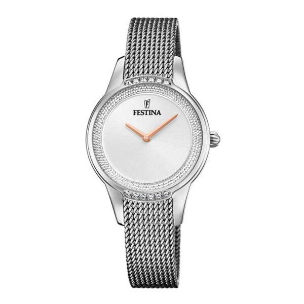 orologio festina maglia milano argento bianco