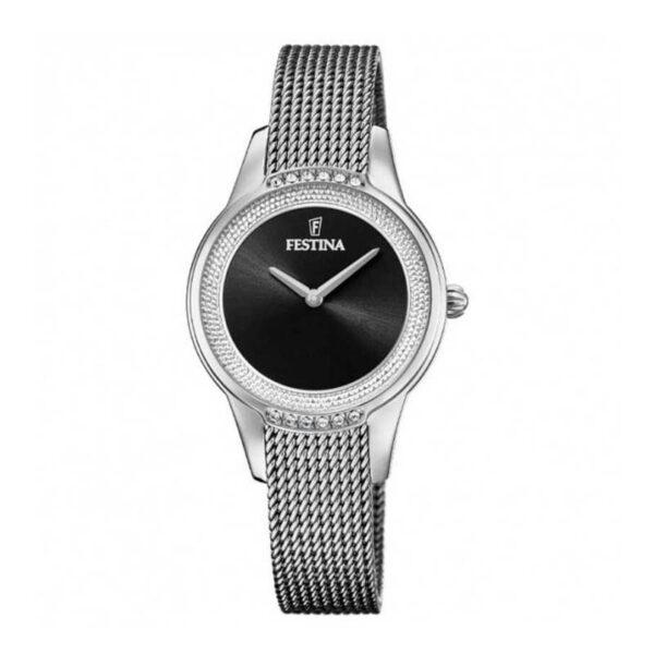 orologio festina maglia milano argento quadrante nero