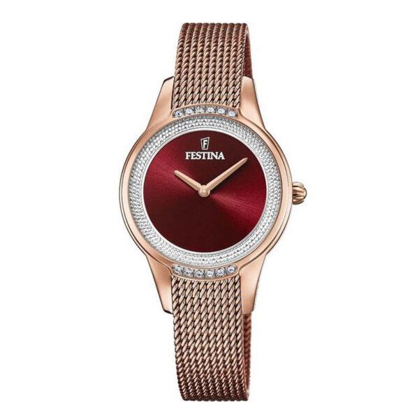 orologio festina maglia milano oro rosa rosso bordeaux
