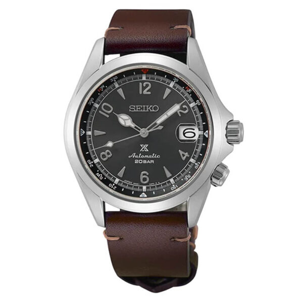 orologio seiko alpinist acciaio pelle marrone edizione limitata quadrante antracite automatico