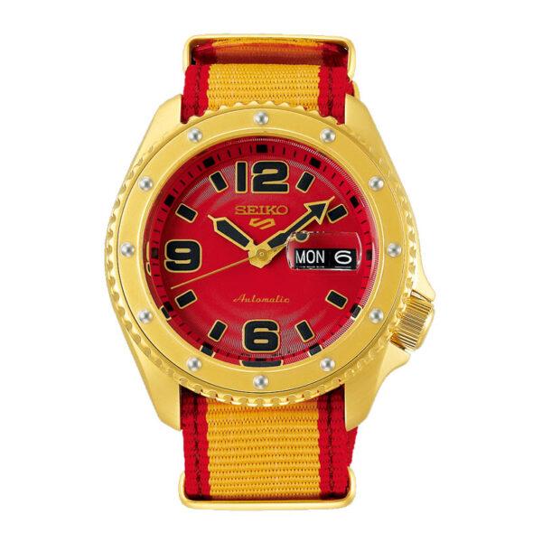 orologio seiko street fighter zangief rosso oro giallo