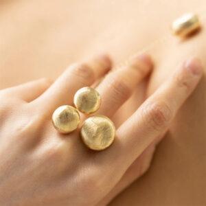 anello donna argento oro giallo