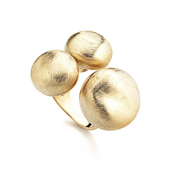 anello donna con pepite argento oro giallo marcello pane
