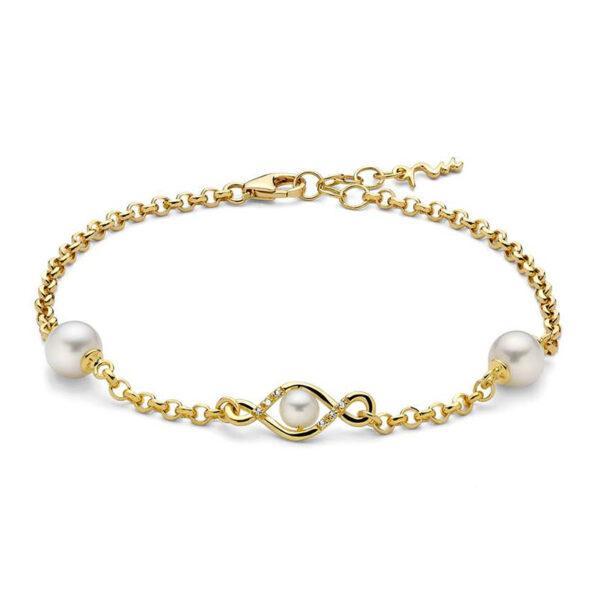 bracciale-argento-dorato-perla-infinito-miluna-pbr3247g