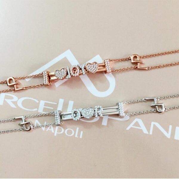 bracciale con targhetta personalizzabile argento