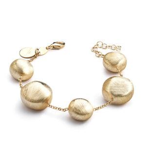 bracciale donna con pepite argento oro giallo marcello pane