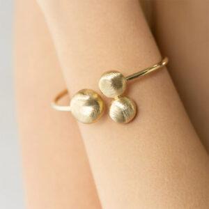 bracciale donna rigido argento placcato oro giallo