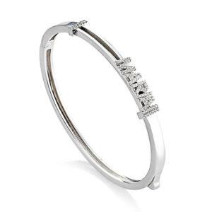 bracciale rigido personalizzabile nome argento