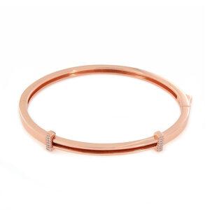 bracciale personalizzabile argento rosato