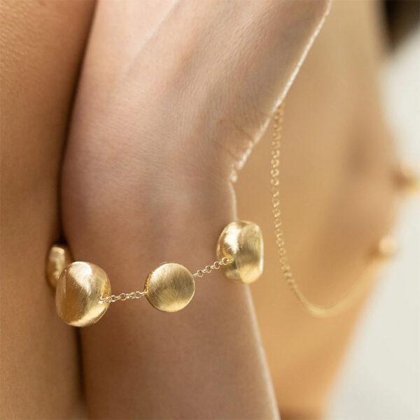 bracciale donna argento dorato