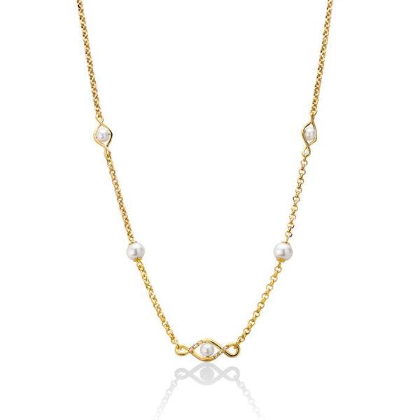 collana oro giallo con perle miluna
