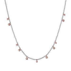 collana con sfere argento rosato