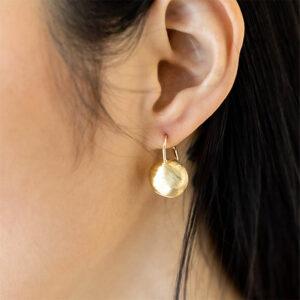 orecchini monachellacon sfera argento dorato