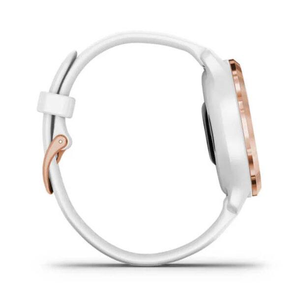 garmin venu 2s oro rosa cinturino bianco gomma silicone