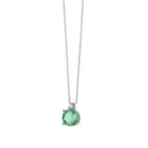 collana comete oro bianco smeraldo verde diamante