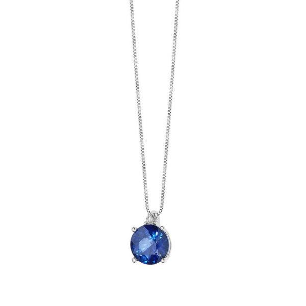 collana comete zaffiro blu oro bianco diamante