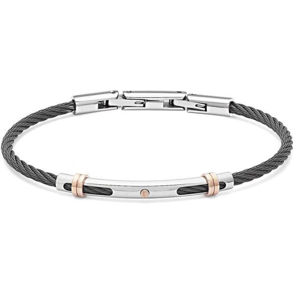 bracciale-cavetto-acciaio-nero-regolabile-uomo-comete-gioielli-wire-ubr-953