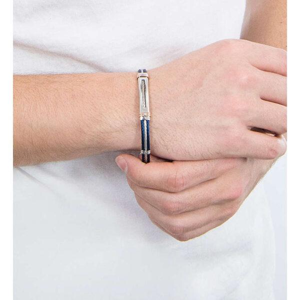 bracciale-cavetto-piastra-acciaio-blu-regolabile-uomo-comete-gioielli-wire-ubr-962