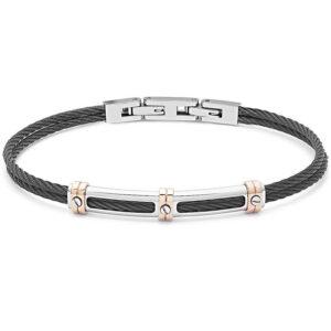 bracciale-cavetto-piastra-acciaio-nero-regolabile-uomo-comete-gioielli-wire-ubr-957