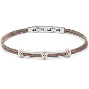 bracciale-cavetto-piastra-acciaio-ramato-regolabile-uomo-comete-gioielli-wire-ubr-959