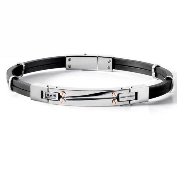 bracciale-gomma-nero-acciaio-spinello-pietra-uomo-comete-gioielli-passioni-ubr-538