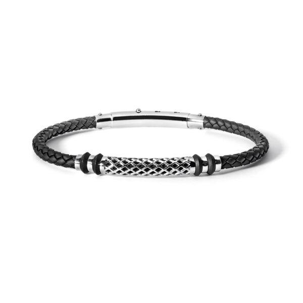 bracciale-gomma-nero-acciaio-uomo-regolabile-comete-gioielli-net-ubr-625