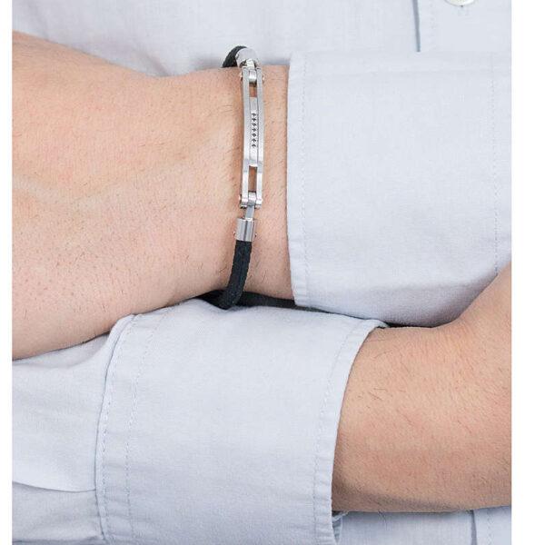 bracciale-gomma-nero-spinello-pietra-acciaio-uomo-regolabile-comete-gioielli-nipper-ubr-660
