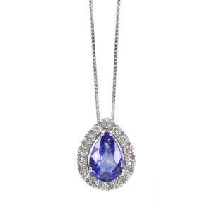 collana bibigi bibigì oro bianco diamanti tanzanite blu viola