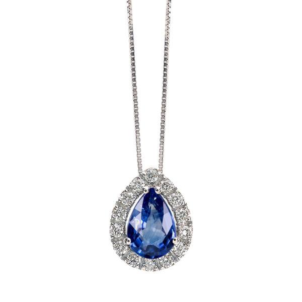 collana bibigi bibigì diamanti zaffiro blu