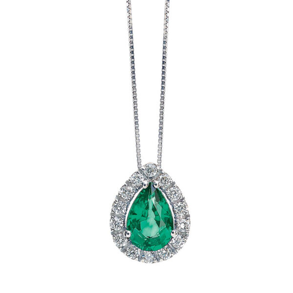 collana bibigi bibigì diamanti smeraldo verde