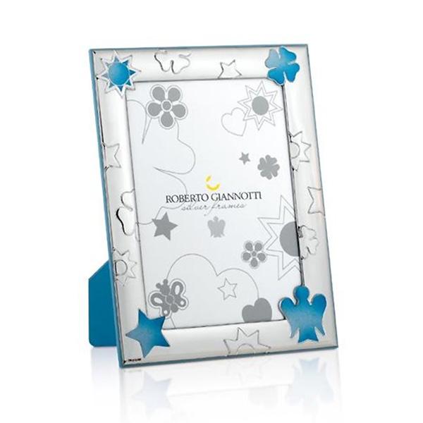 cornice argento amgelo azzurro bimbo