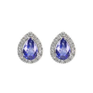 orecchini bibigi bibigì diamanti goccia tanzanite blu viola