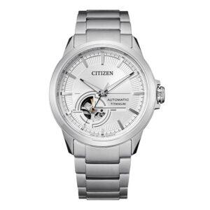 orologio citizen automatico titanio quadrante argento bianco