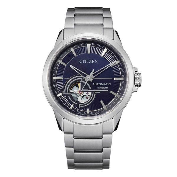 orologio citizen automatico titanio quadrante blu