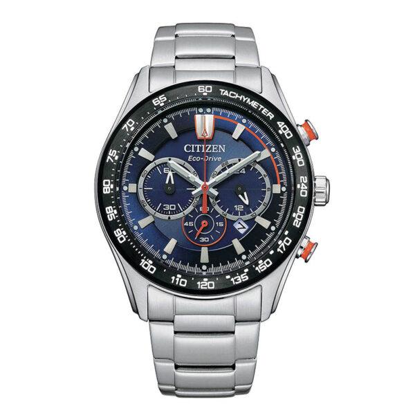 orologio citizen eco drive acciaio chrono quadrante blu