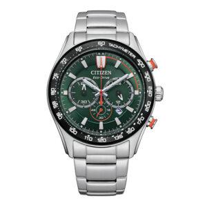 orologio citizen eco drive acciaio chrono quadrante verde