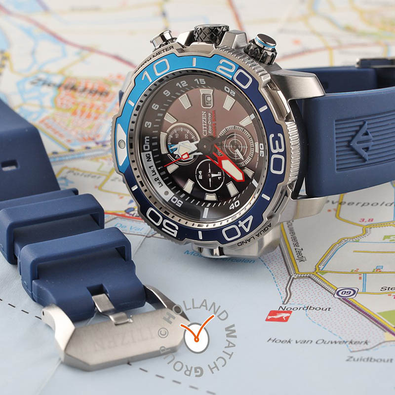 orologio citizen promaster blu doppio cinturino silicone gomma