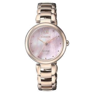 orologio da donna citizen oro rosa e madreperla