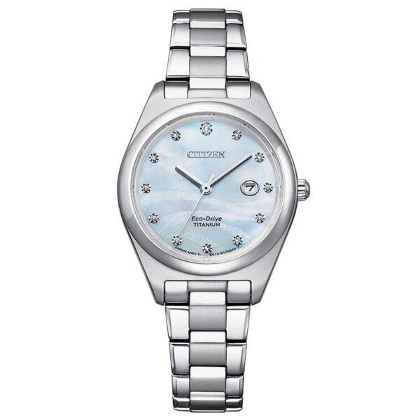 orologio donna titanio con diamanti citizen
