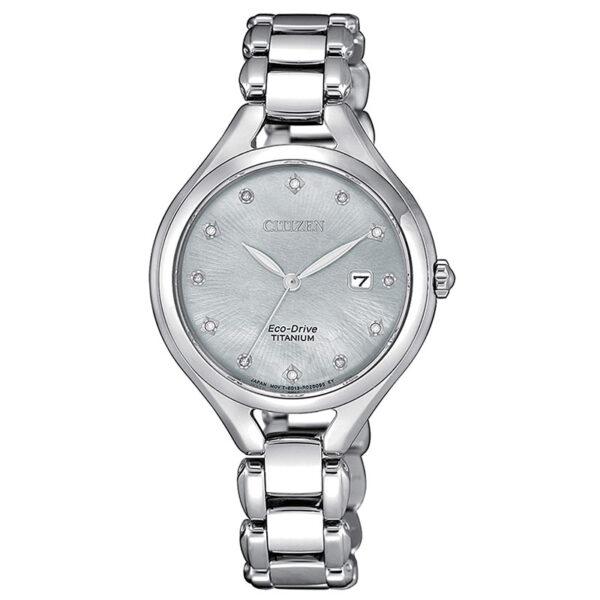 orologio donna titanio con diamanti e madreperla di citizen