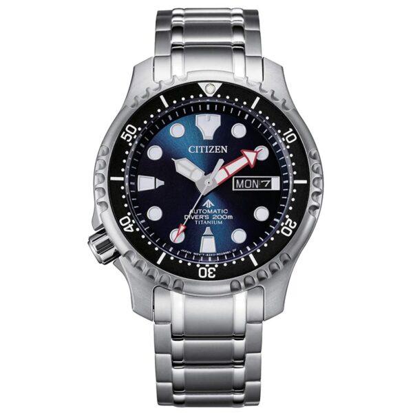 orologio uomo citizen automatico in titanio blu