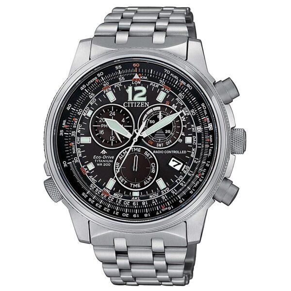 orologio uomo citizen radiocontrollato titanio nero