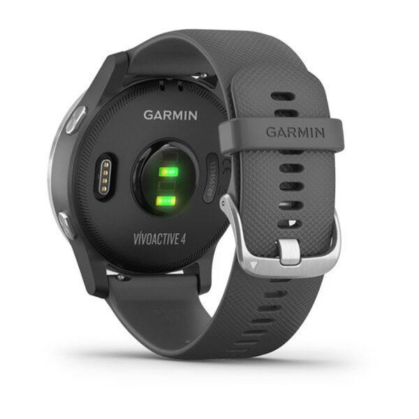 Smartwatch-Garmin-Vivoactive-4-Silver-Silicone-shadow-grey-fitness-Cardio-010-02174-02